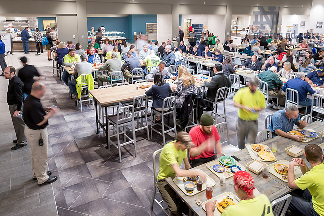 March 14, 2017; Test lunch in renovated section of North Dining Hall. (Photo by Matt Cashore/University of Notre Dame)