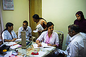 Resident doctors consult the patients at the OPD of the National Research Institute of Panchakarma in Cheruthuruthy in Thissur district of Kerala, India.