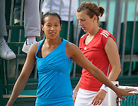 Anne Keothavong (GBR) & Kristina Barrois (GER) against Anna-Lena Groenfeld (GER) (11) & Patty Schnyder (SUI) (11) in the first round of the Women's Doubles. Groenfeld & Schnyder beat Keothavong & Barrois 6-1 6-2..Tennis - French Open - Day 3 - Tues 26th May 2009 - Roland Garros - Paris - France..Frey Images, Barry House, 20-22 Worple Road, London, SW19 4DH.Tel - +44 20 8947 0100.Cell - +44 7843 383 012