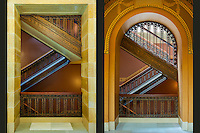 Staircases at the State Capitol in Madison, Wisconsin.