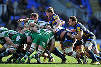 A general view of a scrum. Aviva Premiership match, between London Irish and Worcester Warriors on February 7, 2016 at the Madejski Stadium in Reading, England. Photo by: Patrick Khachfe / JMP