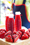 Freshly squeezed pomegranate juice for sale in Bangkok's Chinatown