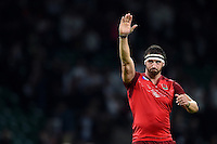 Tom Wood of England acknowledges the crowd after the match. Rugby World Cup Pool A match between England and Fiji on September 18, 2015 at Twickenham Stadium in London, England. Photo by: Patrick Khachfe / Onside Images