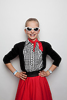 Tahlai Richardson 12 is pictured at The 2012 Historic Houses Trust of NSW annual Fifties Fair at Rose Seidler House, Sydney. Picture James Horan