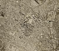 historical aerial photograph Los Angeles, California, 1972
