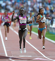 Vivian Cheruiyotwon the 5000m in a World Leading, Meet Record time of 14:27.41 at the Samsung Diamond League held in Paris, France on Friday, July 16, 2010. Photo by Errol Anderson.