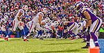 19 October 2014: The Buffalo Bills line up for the game winning play, just short of the goal line with seconds to go in the fourth quarter against the Minnesota Vikings at Ralph Wilson Stadium in Orchard Park, NY. The Bills defeated the Vikings 17-16 in a dramatic, last minute, comeback touchdown drive. Mandatory Credit: Ed Wolfstein Photo *** RAW (NEF) Image File Available ***