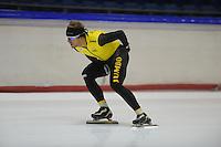 SCHAATSEN: HEERENVEEN: 24-10-2014, IJsstadion Thialf, Topsporttraining Team LottoNL - Jumbo, Douwe de Vries, ©foto Martin de Jong
