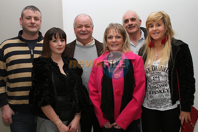 Ivan Murphy, Fiona Tuite, Robbies parents Jacinta and Henry Andrews with Ollie and Danielle Smith at the Launch of Robbie Andrew's Book in the D Hotel...(Photo credit should read Jenny Matthews/NEWSFILE)...