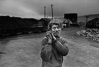 Cyril, a miner in Alston, Cumbria working in Garrigill private coal drift, which remained open with 12 employees.