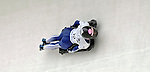 15 December 2006: Shelley Rudman from Great Britain, banks through a turn at the FIBT Women's World Cup Skeleton Competition at the Olympic Sports Complex on Mount Van Hoevenburg  in Lake Placid, New York, USA. &amp;#xA;&amp;#xA;Mandatory Photo credit: Ed Wolfstein Photo<br />
