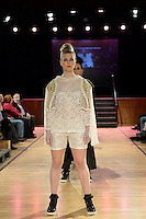 Dane Dagger, New Zealand Eco Fashion Exposed, Eco Designer Runway at Notre Dame Performing Arts Centre, Lower Hutt, New Zealand on Saturday 26 July 2014. <br /> Photo by Masanori Udagawa. <br /> www.photowellington.photoshelter.com.