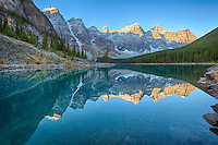 Sunrise at Moraine Lake, Banff National Park, Alberta, Canada