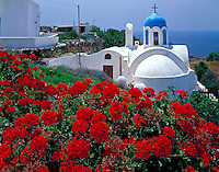 "Church at Oia  Island of Santorini, Greece  Cyclades, Aegean Sea  ""Thera""  Possible source of Atlantis Legend  Volcanic caldera  May"