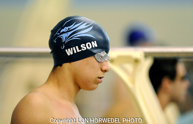 Skyline High School vs Huron High School boy's swimming and diving, Thursday, February 5, 2015, at Skyline High School.