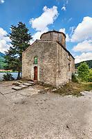 Agios Fanourios (Palaiomonastiro) church in Lake Doxa of Feneos, Greece