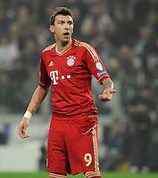 FUSSBALL  CHAMPIONS LEAGUE  VIERTELFINALE  RUECKSPIEL  2012/2013      Juventus Turin - FC Bayern Muenchen        10.04.2013 Mario Mandzukic (FC Bayern Muenchen)