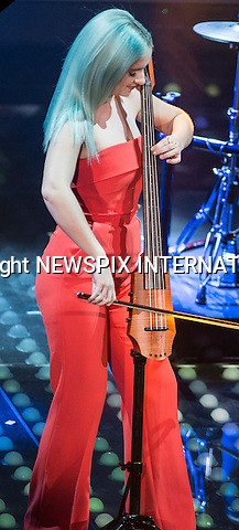 08.02.2017; San  Remo, Italy: CLEAN BANDIT - GRACE CHATTO<br /> performs at the San Remo Music Festival.<br /> Mandatory Credit Photo: &copy;NEWSPIX INTERNATIONAL<br /> <br /> PHOTO CREDIT MANDATORY!!: NEWSPIX INTERNATIONAL(Failure to credit will incur a surcharge of 100% of reproduction fees)<br /> <br /> IMMEDIATE CONFIRMATION OF USAGE REQUIRED:<br /> Newspix International, 31 Chinnery Hill, Bishop's Stortford, ENGLAND CM23 3PS<br /> Tel:+441279 324672  ; Fax: +441279656877<br /> Mobile:  0777568 1153<br /> e-mail: info@newspixinternational.co.uk<br /> Please refer to usage terms. All Fees Payable To Newspix International
