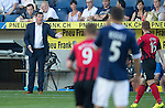 FC Luzern v St Johnstone...17.07.14  Europa League 2nd Round Qualifier<br /> Tommy Wright gives instructions<br /> Picture by Graeme Hart.<br /> Copyright Perthshire Picture Agency<br /> Tel: 01738 623350  Mobile: 07990 594431