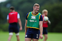 Chris Cook of Bath Rugby is all smiles. Bath Rugby pre-season training session on August 9, 2016 at Farleigh House in Bath, England. Photo by: Patrick Khachfe / Onside Images