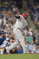 08/9/11 Los Angeles, CA: Philadelphia Phillies first baseman Ryan Howard #6 during an MLB game against the Los Angeles Dodgers played at Dodger Stadium. The Phillies defeated the Dodgers 2-1.