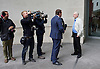 Jeremy Corbyn <br /> Leader of the Labour Party <br /> leaving the Andrew Marr Show at the BBC, London, Great Britain <br /> 10th July 2016 <br /> <br /> Jeremy Corbyn giving an interview outside the BBC <br /> <br /> Photograph by Elliott Franks <br /> Image licensed to Elliott Franks Photography Services