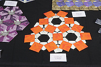 New York, NY, USA - June 22, 2012: A display of Origami designed and folded by Melisande* (Christiane Bettens, Switzerland), at the OrigamiUSA 2012 convention exhibition held at Fashion Institute of Technology in New York City.