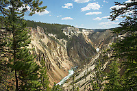 Grand Canyon of the Yellowstone from Uncle Tom's Trail,  Yellowstone National Park