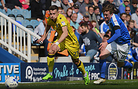 Peterborough United's Chris Forrester (R) battles with Bristol Rovers' Billy Bodin (L)<br /> <br /> Peterborough 4 - 2 Bristol Rovers<br /> <br /> Photographer David Horton/CameraSport<br /> <br /> The EFL Sky Bet League One - Peterborough v Bristol Rovers - Saturday 22nd April 2017 - ABAX Stadium - Peterborough <br /> <br /> World Copyright &copy; 2017 CameraSport. All rights reserved. 43 Linden Ave. Countesthorpe. Leicester. England. LE8 5PG - Tel: +44 (0) 116 277 4147 - admin@camerasport.com - www.camerasport.com
