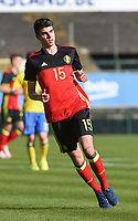 20170323 - BEVEREN , BELGIUM : Belgian Thibault De Smet pictured during the UEFA Under 19 Elite round game between Sweden U19 and Belgium U19, on the first matchday in group 7 of the Uefa Under 19 elite round in Belgium , thursday 23 th March 2017 . PHOTO SPORTPIX.BE | DIRK VUYLSTEKE