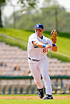6 March 2006: Andy LaRoche, infielder for the Los Angeles Dodgers, throws to first during a Spring Training game against the Washington Nationals. The Nationals and Dodgers played to a scoreless tie at Holeman Stadium, in Vero Beach Florida...Mandatory Photo Credit: Ed Wolfstein..