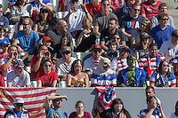 Carson, Calif. - Sunday, February 8, 2015: US fans. The USMNT defeated Panama 2-0 in an international friendly at StubHub Center.