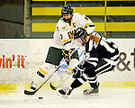 12 February 2011: University of Vermont Catamount forward Celeste Doucet, a Senior from Memramcook, New Brunswick, in action against the University of New Hampshire Wildcats at Gutterson Fieldhouse in Burlington, Vermont. The Lady Wildcats shut out the Lady Cats 2-0 to split their Hockey East twin game weekend series. Mandatory Credit: Ed Wolfstein Photo