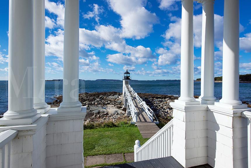 Marshall Point Lighthouse, Port Clyde, Maine,  USA