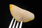 Stock photo of a pear slice