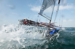 Training session on F18 before the Eurocat 2011, the great catamaran in Carnac, Brittany, France..Mischa Heemskerk.Bastiaan Tentij.F18 Cirrus R