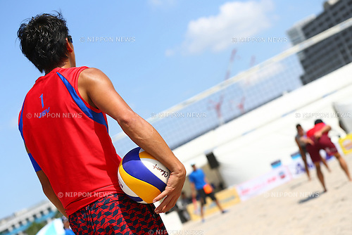General View,<br /> SEPTEMBER 21, 2015 - Beach Volleyball : <br /> JBV Tour 2015 Tokyo Open<br /> Men's Semi-Final<br /> at Odaiba Beach, Tokyo, Japan.<br /> (Photo by Shingo Ito/AFLO SPORT)