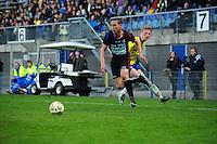 VOETBAL: LEEUWARDEN: Cambuur Stadion, 27-04-2012, SC Cambuur - Telstar, Jupiler League, Eindstand 3-1, Anthony Coreira (#2 Telstar), Bob Schepers (#27 Cambuur), ©foto Martin de Jong