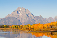 Mt Moran from Oxbow Bend in Grand Teton National Park, Wyoming