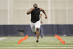 Mississippi football player Daverin Geralds at Pro Day in the IPF in Oxford, Miss. on Tuesday, March 23, 2010.