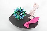 DNA + Virus<br /> DNA:  designer - Thoki Yenn, folder- Arlene Gorchov<br /> Virus: designer - Tomoko Fuse, folder- Rosalind Joyce