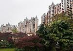 High-rise condos in an upscale luxury residential neighbourhood in Hu Jing Lu, Chancheng Qu, Huanhu Garden, Foshan city, Guangdong, China. 2016