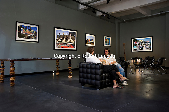 Installatoin photo of Rock N Roll Billboards exhibtion at the Photo House Gallery in Brussels, Sept, 2016.