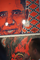 RED OBAMAat art miami fair during art basel 2012