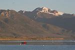 kayak on Mono Lake in morning