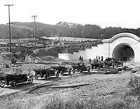 Outdoor Shot of Auto Caravan Entering West Portal of Twin Peaks Tunnel | June 15, 1917