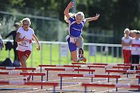 ATLETIEK: HEERENVEEN: 19-09-2015, Athletics Champs AV Heerenveen, Fleur de Vries (#106 | 10 jaar), Ruth Zijlstra (#33 | 9 jaar), ©foto Martin de Jong
