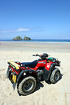 ATV quad bike at Holywell Bay, Cornwall, UK