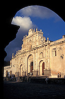 The cathedral in the Spanish colonial city of Antigua, Guatemala