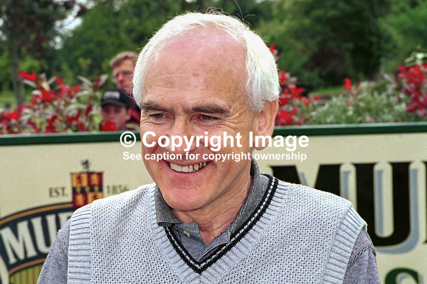 Lee Mallaghan, Irish Financier, ProAm partner of JP McManus, Dermot Desmond and Colin Montgomerie. Ref: 199907097. Photograph taken July 1999 at Druids Glen, Co Wicklow, during Murphys Irish Open. Owner, Carton House Hotel and Golf Club, Co Kildare.<br /> Copyright Image from Victor Patterson, 54 Dorchester Park, Belfast, UK, BT9 6RJ..Tel: +44 28 9066 1296.Mob: +44 7802 353836.Voicemail +44 20 8816 7153.Skype: victorpattersonbelfast.Email: victorpatterson@mac.com.Email: victorpatterson@ireland.com (back-up)..IMPORTANT: If you wish to use this image or any other of my images please go to www.victorpatterson.com and click on the Terms &amp; Conditions. Then contact me by email or phone with the reference number(s) of the image(s) concerned.